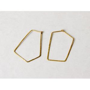 ro-ji kuni ピアス スクエア BP151(L) 真鍮の繊細なゆらぎを楽しむシンプルなピアス|a-depeche