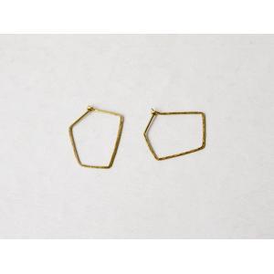 ro-ji kuni ピアス スクエア BP151(M) 真鍮の繊細なゆらぎを楽しむシンプルなピアス|a-depeche