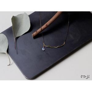 ro-ji Thida ネックレス レインボームーンストーン tn042(M) 真鍮の繊細なゆらぎを楽しむシンプルなネックレス a-depeche