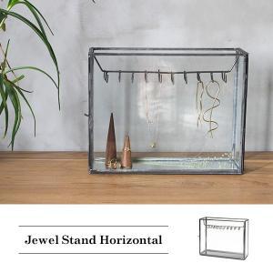 ジュエルスタンドホリゾンタル 『ジュエリーボックス ガラス アイアン ネックレス 店舗什器 北欧 ディスプレイ ケース スチール』|a-depeche