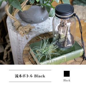 流木ボトル ブラック 『流木 インテリア 棒 ボトル セット ガラス ディスプレイ オブジェ DIY 素材 一点物 枝 大 中 小 アクセサリー 多肉植物』|a-depeche