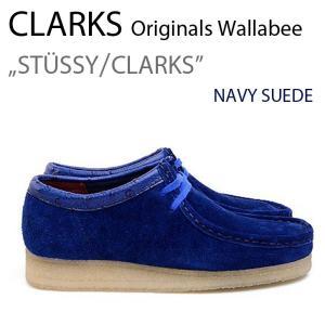 CLARKS Wallabee STUSSY NAVY クラークス ステューシー 35周年|a-dot