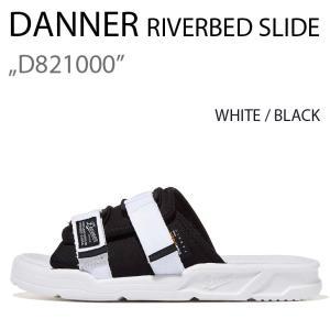DANNER RIVERBED SLIDE D821000 ダナー WHITE BLACK ホワイト|a-dot