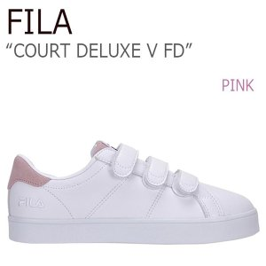 FILA COURT DELUXE V FD Pink フィラ コートデラックス ベルクロ  FILA x FOLDER FLFL7S1W06|a-dot