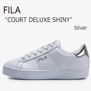 FILA COURT DELUXE SHINY Silver フィラ コートデラックス シャイニー F1XKZ0503|a-dot