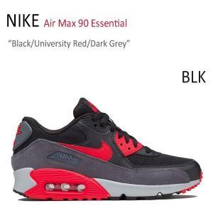 NIKE AIR MAX 90 ESSENTIAL Black University Red Dark Grey ナイキ エアーマックス90 グレー レッド 616730-020|a-dot