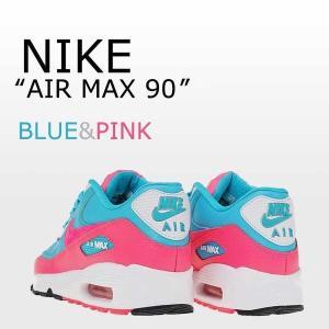 NIKE AIR MAX 90 GS レザー ピンク ブルー...