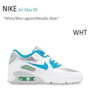 NIKE AIR MAX 90 White Blue Lagoon Metallic Silver ナイキ エアーマックス90 シルバー ブルー 724852-104|a-dot