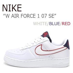 NIKE W AIR FORCE 1 07 SE エアフォース1 WHITE BLUE RED ホワイト ブルー レッド AA0287-103|a-dot