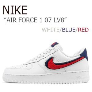 NIKE AIR FORCE 1 07 LV8 エア フォース 1 WHITE BLUE RED ホワイト ブルー レッド 823511-106 AO3620-101|a-dot
