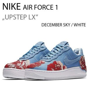 NIKE AIR FORCE 1 UPSTEP LOW LX FLORAL SEQUIN PACK DECEMBER SKY 898421-402|a-dot