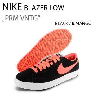NIKE BLAZER LOW PRM VNTG ブレザー ナイキ BLK/MANGO 443903-004|a-dot