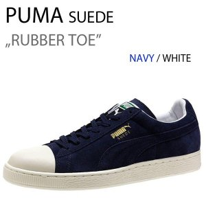 PUMA SUEDE RUBBER TOE プーマ スエード NVY WHT 357719−02|a-dot