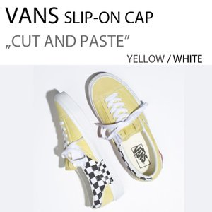 VANS SLIP-ON CAP Cut and Paste YELLOW WHITE イエロー バンズ VN0A3WM5VT1|a-dot