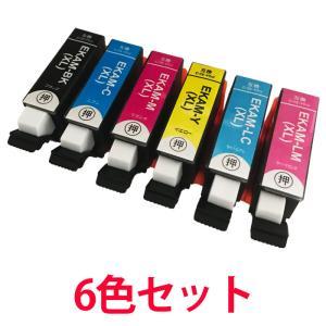 (9/16-21 PayPay別途9%) エプソン用 インク カメ プリンタ KAM 互換インク 増量 KAM-6CL-L 6色セット EP-881シリーズ 等に|a-e-shop925