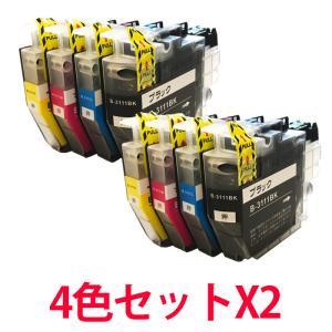 LC3111-4PK ブラザー用 LC3111の4色セットを2セット 互換インク プリンターインク ICチップ付き|a-e-shop925