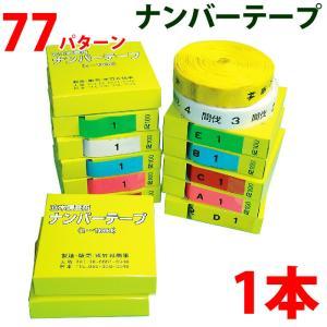 樹木用ナンバーテープ 数字、アルファベット、カラー選択 測量テープ|a-e-shop925