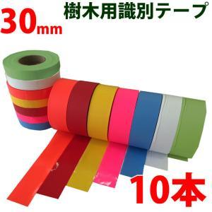樹木用識別テープ 30mm 10本セット 森林等に 7色よりお選び下さい|a-e-shop925