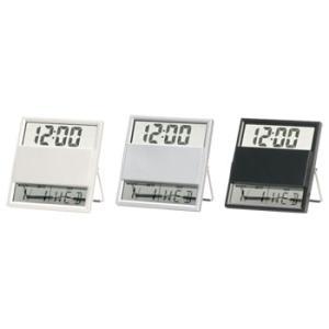 送料無料・ロット40以上/名入れ・販促品 クリアクロック(カレンダー付)|a-e-shop925
