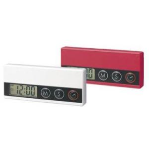 送料無料・ロット40以上/名入れ・販促品 スリムキッチンタイマー(時計機能付)|a-e-shop925