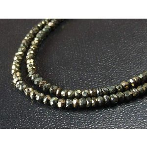 4mm ゴールドスピネル ネックレス50cm|a-e-shop925|02