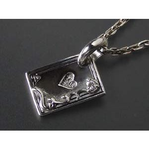 【ハート】トランプ カード ペンダント/シルバーアクセ/ネックレスTOP|a-e-shop925