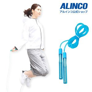 アルインコ ジャンプロープ ロンググリップ WBN008  健康器具 自宅 ボディメンテナンス スト...