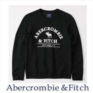 アバクロ メンズ トレーナー スウェット Abercrombie&Fitch 正規品 グラフィック ロゴ クルーネック スウェットシャツ|a-freeshop