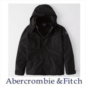 Abercrombie & Fitch アウター ジャケット ミッドウェイト テクニカルジャケット ブラック|a-freeshop