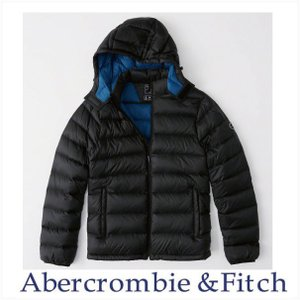 Abercrombie&Fitch USAモデル アウター ジャケット メンズ 本物保証 取り外し可能フード パッカブルパファージャケット ブラック|a-freeshop