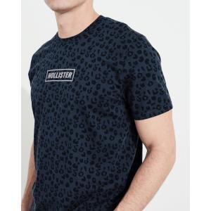 ホリスター HOLLISTER メンズ Tシャツ 半袖  クルーネック プリントロゴ グラフィックTシャツ ネイビー柄 a-freeshop 02