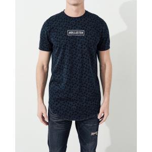 ホリスター HOLLISTER メンズ Tシャツ 半袖  クルーネック プリントロゴ グラフィックTシャツ ネイビー柄 a-freeshop 03