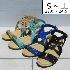 サンダル レディース 靴 夏 履きやすい フラット ぺたんこ...