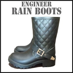 長靴 レディース 雪 防寒 エンジニア レインシューズ 雪対策 レインブーツ700012  S M L LL|a-freeshop
