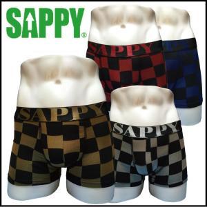 ボクサーパンツ メンズ 人気 SAPPY underwear メタリックチェッカーボクサー D-303 a-freeshop