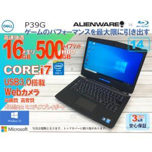 DELL ALIENWARE P39G ハイブリッドHDD500GB メモリ16GB Core i7 ブルーレイ・カメラ・無線LAN|a-fun