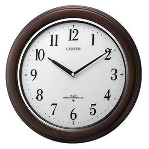 掛け時計 電波時計 木製 シチズン リバライト W495|a-hanet