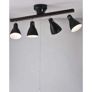 4灯 シーリングライト E26 ブラック 電球別売 LT-YN40AW-K LED対応|a-hanet