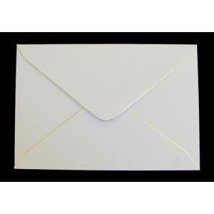 洋1金縁封筒/10部セット/白紙/郵便枠付|a-haru