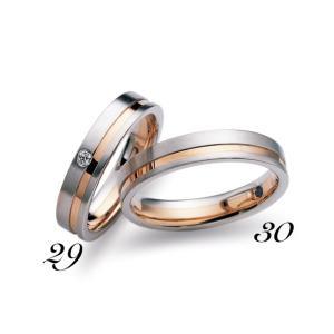 No30 LANVIN ランバン メンズ マリッジリング  Pt900 K18PG プラチナ ピンクゴールド サファイヤ 保証書付 結婚指輪 指輪 リング|a-inoko