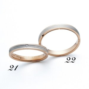 No22 LANVIN ランバン メンズ マリッジリング  Pt950 K18PG プラチナ ピンクゴールド サファイヤ 保証書付 結婚指輪 指輪 リング|a-inoko