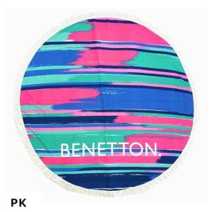 (ベネトン) ラウンドタオル 227-188 円型 丸型 たおる 大判タオル レディス ガールズ 大人 子供 BENETTON227188|a-k-k
