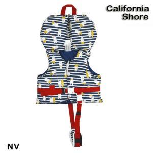 (カリフォルニアショア) フローティングベスト SSサイズ NV 127-487 715855 子供 ベストフローティング枕つきライフジャケットベビー キッズ CS127487|a-k-k