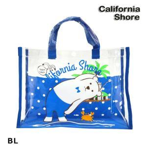(カリフォルニアショア) バッグシロクマ柄 127-551ビニール バッグ プールバッグ スイムアイテム 子供 キッズ CS127552|a-k-k