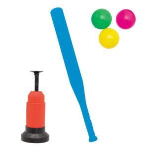 【IKEDA/イケダ】ホームラン王 54050 054050 バッティングマシーン付 バットとボールのセット  公園遊び 初めての野球の練習|a-k-k
