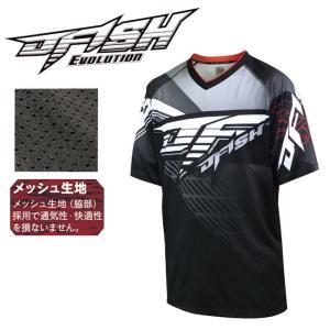 (ジェイフィッシュ) エボリューション エクストリームライダーシャツ(半袖) ブラック JES-37210 シャツ メンズ 大人用 2017SS|a-k-k