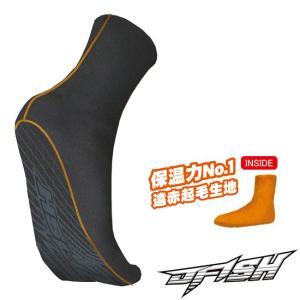 (ジェイフィッシュ) サーマルソックス ブラック JMS-38310 靴下 冬用 マリンソックス 保温 大人用 2018AW|a-k-k