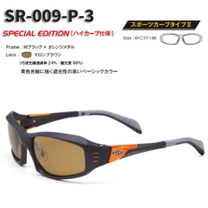 【STORMRIDER/ストームライダー】SR-009-P スポーツカーブタイプII マカロンブラウン SR-009-P-3 000359 ハイカーブ仕様 偏光サングラス 偏光レンズ サングラス|a-k-k