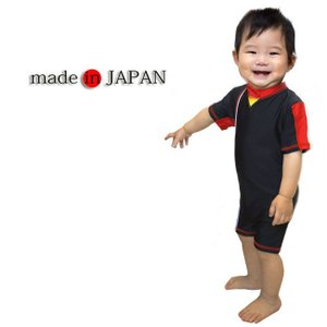 ラッシュガードスーツタイプ ベビー 半袖 日本製 WB2701|a-k-k