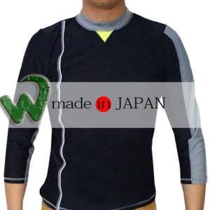 ラッシュガード ユニセックス 七分袖 ワイプアウト 大人用 日本製 WUR4200 a-k-k